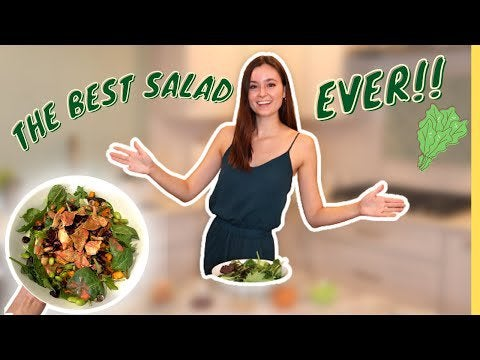 HOW TO MAKE MY FAVORITE SALAD RECIPIE!! The best salad you will ever have…(healthy & vegan)